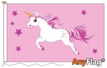 UNICORN PINK  ANYFLAG RANGE - VARIOUS SIZES
